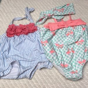 Janie and Jack bathing suits 3-6 months